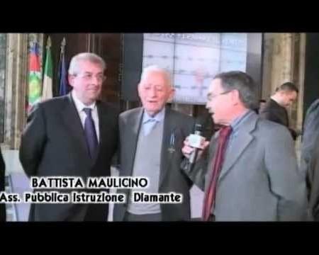Gornata della Memoria: Consegna Medaglia d'onore al Diamantese Paolo Perrone