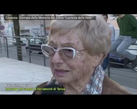 """Cosenza: Giornata della Memoria al Liceo """"Lucrezia della Valle""""-interviste"""