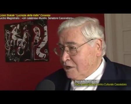 Cosenza: Conferenza su «Un calabrese illustre. Senatore Cassiodoro» – Interviste