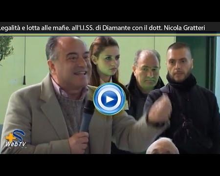 Diamante: Il Procuratore Nicola Gratteri incontra gli alunni dell'IISS