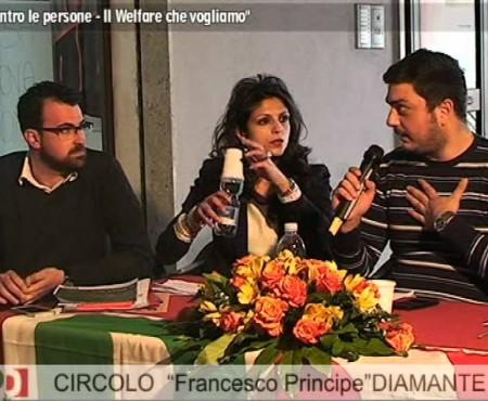 """PD Diamante: Incontro dibattito """"Al centro le persone. Il Welfare che vogliamo"""""""