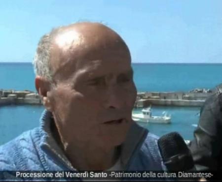 Diamante:interviste Processione Venerdi Santo 2016