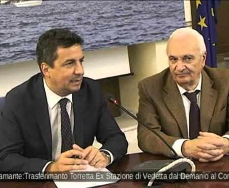 """""""Torre del Semaforo"""" dal Demanio al Comune di Diamante- inaugurazione con Direttore Demanio Ing. R.Reggi."""