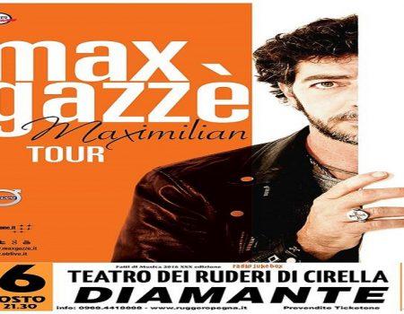 Max Gazzè- Maximilian Tour Teatro dei Ruderi di Cirella (Diamante Cs) 16 agosto 2016