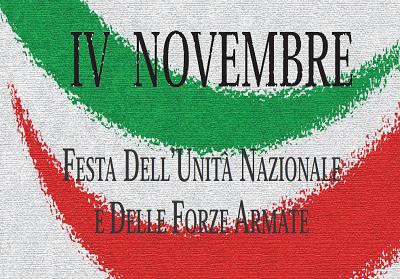 """Diamante: Iniziative per il 4 novembre """"Festa dell'Unita Nazionale e delle Forze Armate"""""""