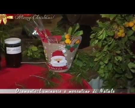 Diamante:Luminarie e mercatino di Natale – Immagini-interviste
