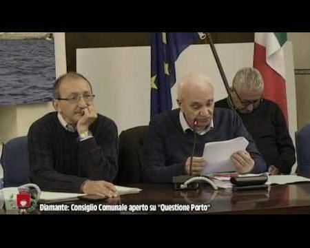 """Diamante: Consiglio comunale aperto su """" Questione Porto""""-integrale"""