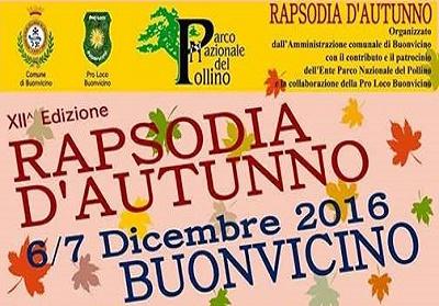 Buonvicino: Si rinnova l'ecoevento Rapsodia d'autunno, il 6 e 7 Dicembre.