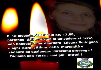 Belvedere: Una ficcolata silente in ricordo di Silvana