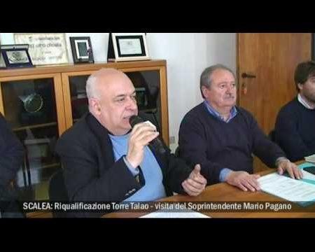 Scalea: Riqualificazione Torre Talao, visita soprintendente M. Pagano