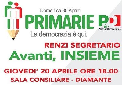 Diamante: Primarie PD, iniziativa con Aieta e Magorno