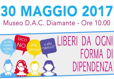 """Diamante: """"Liberi da ogni forma di dipendenza"""", iniziativa a cura dell'Assessorato al Welfare"""