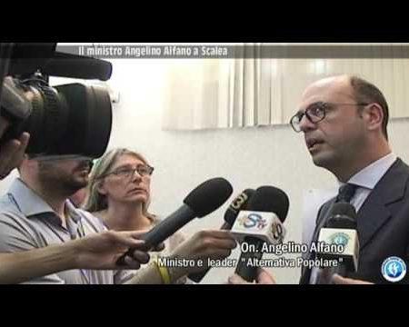 Dichiarazioni del Ministro Alfano dopo visita a Scalea (CS)