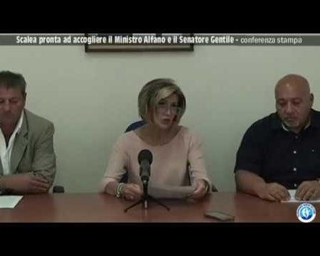 Conferenza Stampa-Visita a Scalea del Ministro Alfano e Senatore Gentile