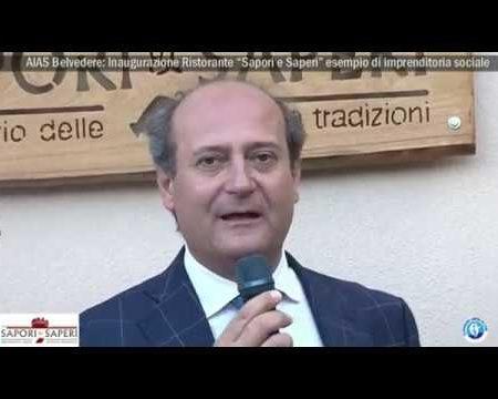 """AIAS Belvedere: Inaugurazione ristorante """"Saperi e Sapori""""-Immagini/interviste"""