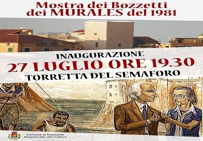 """Diamante: Inaugurazione della """"Mostra dei Bozzetti dei Murales del 1981"""""""