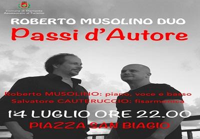 """Diamante: """"Passi d'autore"""", la musica d'autore protagonista con il duo Musolino Cauteruccio"""