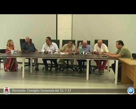 Diamante: Consiglio Comunale del 31/7/17