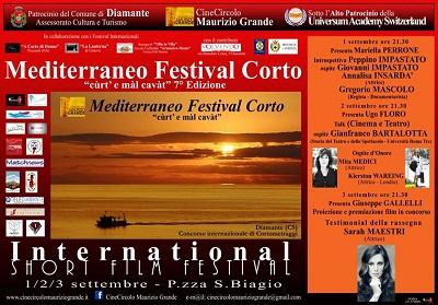 """Diamante: Dall'1 al 3 settembre la 7° edizione del """"Mediterraneo Festival Corto"""""""