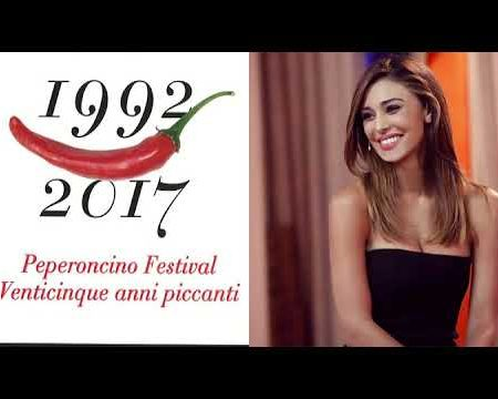 Diamante: Belen Rodriguez inaugura il 25° Peperoncino Festival