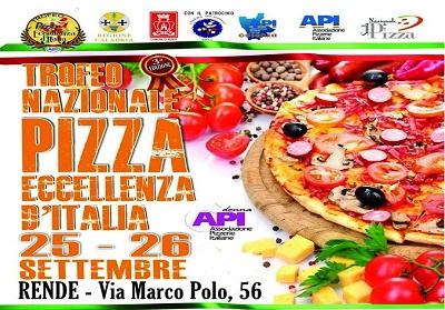3°  Trofeo Nazionale Pizza Eccellenze d'Italia a Rende 26 e 27 Settembre