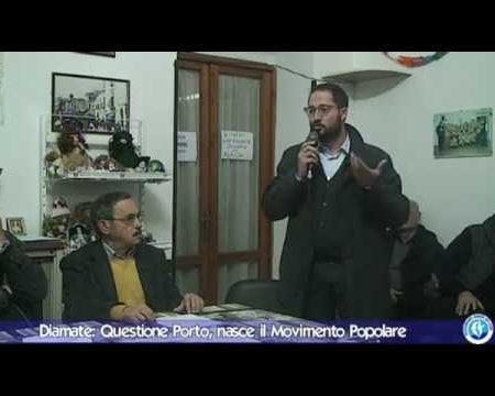 Questione porto di Diamante, nasce il Movimento Popolare.