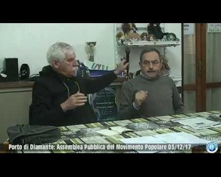 Porto di Diamante: Assemblea del Movimento popolare del 03/12/17