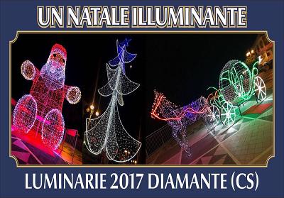 Luminarie a Diamante: Il plauso dell'Amministrazione comunale all'iniziativa dei commercianti
