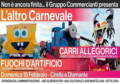 """Commercianti Diamante: Successo per """"Trucco e Parrucco"""" e domenica 18 l'altro Carnevale con i carri allegorici"""