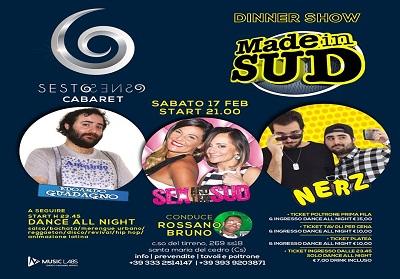 Sesto Senso: Dinner Show con gli artisti di MADE IN SUD, divertimento assicurato sabato 17 febbraio