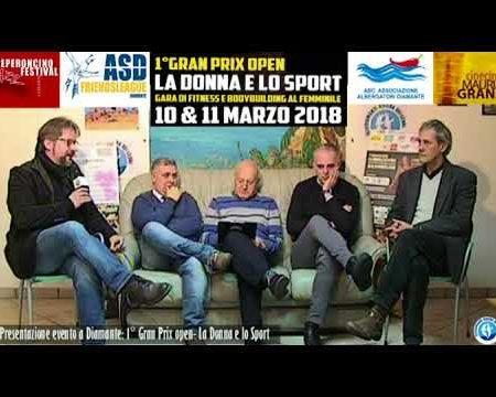 Presentazione evento: 1° Gran Prix Open-La donna e lo sport-10/11/marzo