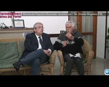 Diamante: Movimento popolare, incontro con l'On. Ernesto Magorno (PD)