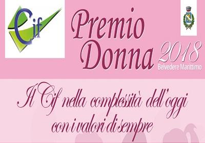 """Belvedere: Mercoledì 21 Marzo la manifestazione """"Premio Donna 2018"""""""