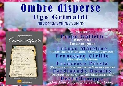 Diamante: Oggi la presentazione del libro di poesie inedite di Ugo Grimaldi