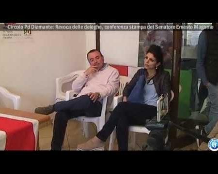 Diamante: Revoca delle deleghe consiglieri-Conferenza stampa del Sen.Ernesto Magorno