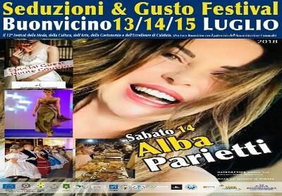 """A Buonvicino l'evento """"Seduzioni & Gusto"""", ospite Alba Parietti"""