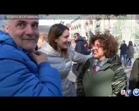 Reddito di Cittadinanza: Iniziativa informativa del Movimento 5 Stelle in Calabria-Servizio