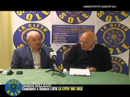 Intervista a GAETANO SOLLAZZO candidato a sindaco lista LA CITTA' DEL SOLE