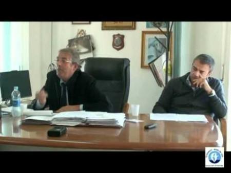 Conferenza stampa lavori del porto a Diamante