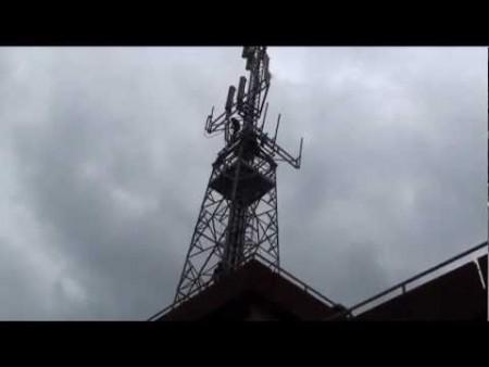 Rimozione antenna Telecom viale Europa