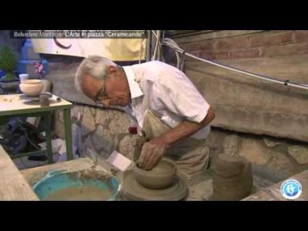 """Belvedere (CS): """"Ceramicando"""" l'arte in piazza immagini e intervista all' Ass. Dott.ssa Filicetti"""