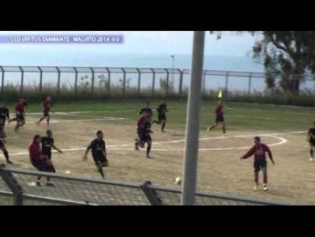 Calcio 3^ Cat. SSD Virtus Diamante- Malvito 2014: 1-2 sintesi