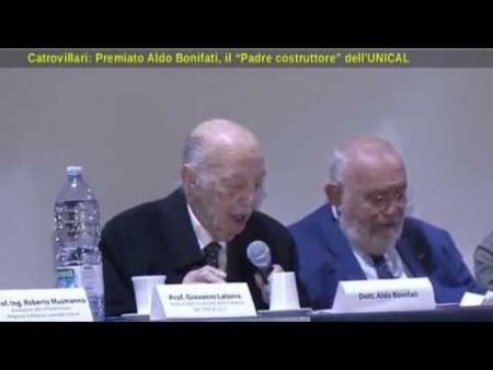 """Castrovillari: Premiato Aldo Bonifati, """"Padre costruttore dell'UniCal"""""""