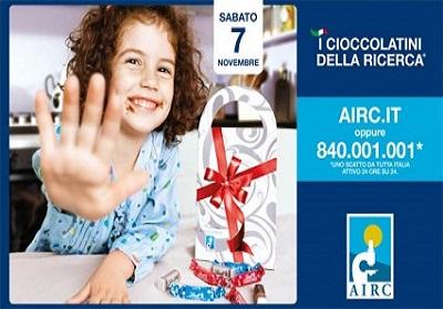 """""""I Cioccolatini della Ricerca"""" di AIRC tornano nelle vostre città"""