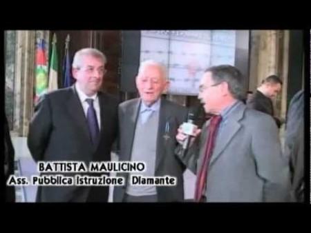 Giornata della Memoria: Consegna Medaglia d'onore al Diamantese Paolo Perrone
