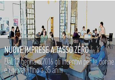 Nuove Imprese a tasso zero, sostegno per giovani e donne