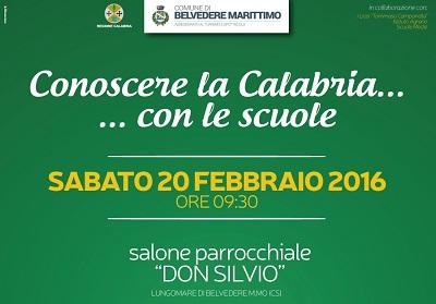 """Belvedere: Un incontro con le scuole per """"Conoscere la Calabria"""""""