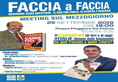 Scalea: Meeting sul Mezzogiorno, Faccia a Faccia tra Pino Aprile e Orlandino Greco