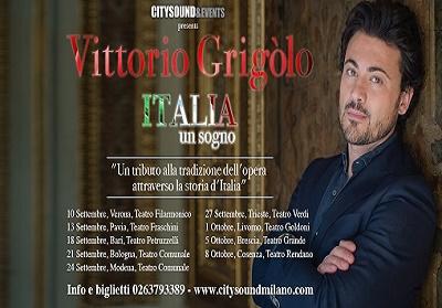 Cosenza: Il Tenore Vittorio Grigòlo al teatro Rendano per cantare l'Italia