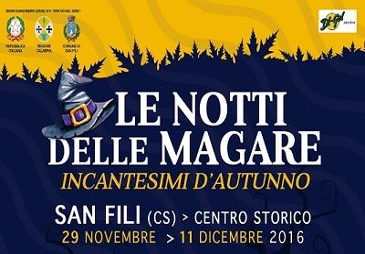 """San Fili: """"Le Notti delle Magare"""", la grande festa della cultura popolare"""